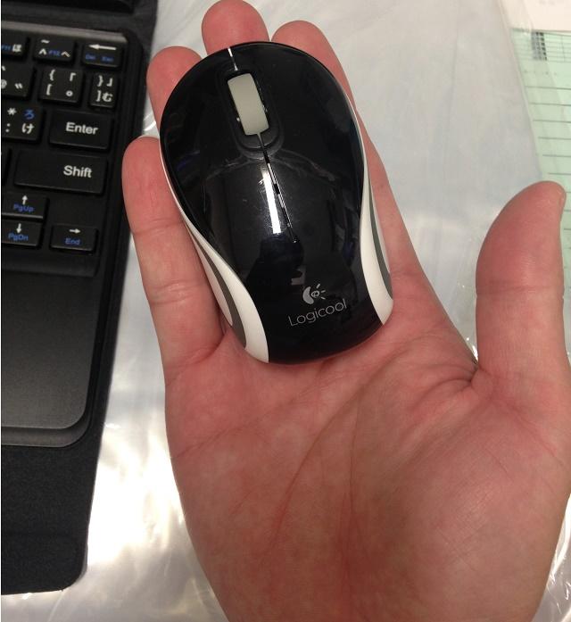 手のひらに乗ったマウス