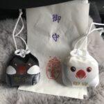 京都の因幡堂で文鳥のお守り